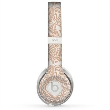 The Tan Abstract Vector Pattern Skin for the Beats by Dre Solo 2 Headphones