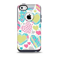 The Fun Colored Vector Pattern Hearts Skin for the iPhone 5c OtterBox Commuter Case