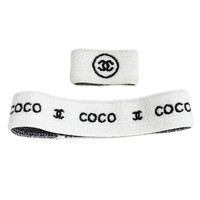 "Chanel ""Coco"" Set of Headband and Wristband"
