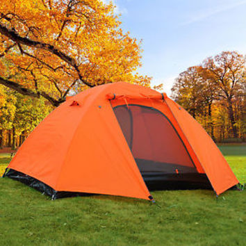 2 Man 3 Season Camping Hiking Climbing Double Layer Backpacking Tent w/ Rainfly
