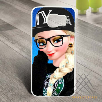 Disney Frozen Hipster Elsa Custom case for Samsung Galaxy