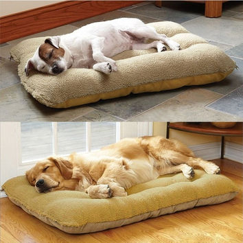 New 2015 Dog House Soft PP Cotton Pet Beds Dog Products Pet House For Dog Cats Beds Brand Pet House Beds (Size: 65cm by 50cm, Color: Multicolor) = 1929802116