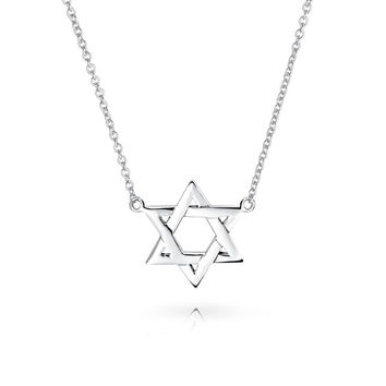 Star Of David Necklace Israeli Jewelry Religious Jewelry Silver Magen David Necklace Israel Star Necklace Bat Mitzvah Gift From Israel