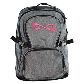 Nfinity Sparkle Backpack - Grey/Pink with FREE Bag Tag!