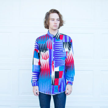 Vintage Geometric Wrangler Button Up Shirt