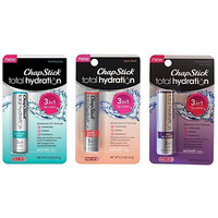 Exclusive Chapstick Total Hydration Set - 3 Flavors - Soothing Oasis, Acai Berry and Sweet Peach