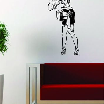 Japanese Pin Up Girl Design Decal Sticker Wall Vinyl Art Decor Home