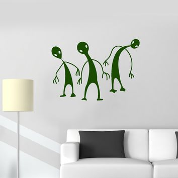 Vinyl Wall Decal Aliens UFO Area 51 Teen Room Home Interior Stickers Mural (ig5697)