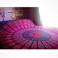 Shopnelo Home Special Indian Mandala Tapestry , Indian Hippie Hippy Wall Hanging,Bedroom special , Bohemian Queen Wall Hanging, Bedspread Beach Tapestry