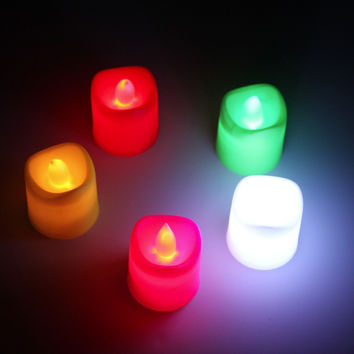 Flameless Votive Candles Battery Operated