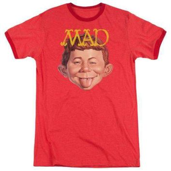 Mens Mad Magazine Absolutely Mad Retro Ringer T-Shirt