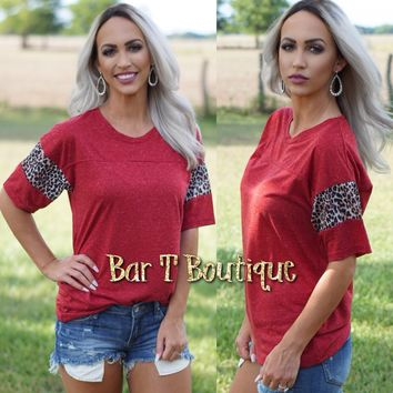 Red Leopard Jersey Tee
