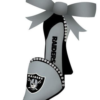 Oakland Raiders High Heeled Shoe Ornament
