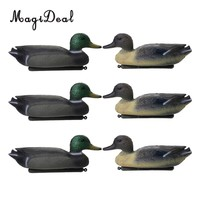 MagiDeal 6 Pcs Fishing Hunting Male Decoy Plastic Duck Decoy Drake w/ Floating Keel Hunting Decoy for Hunting Fishing Access