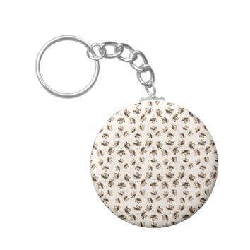Autumn Leaves Motif Pattern Keychain