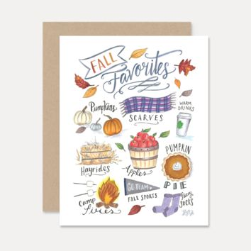 Fall Favorites - A2 Note Card