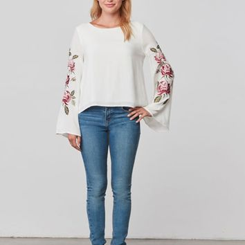 Women's Cupcakes and Cashmere Aldona Embroidered Blouse