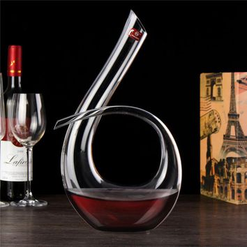 1200ML 6 Shape Decanter Handmade Red Wine Brandy Champagne Crystal Glasses Decanter Bottle Pourer For Family Bar Birthday Gift