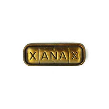 Xany Bar Pin - Antique Gold