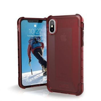 CREYRQ5 UAG iPhone X Plyo Feather-Light Rugged [CRIMSON] Military Drop Tested iPhone Case