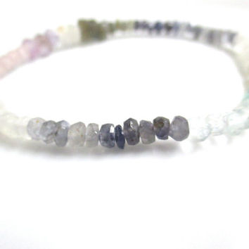 Multi Gemstone Stretch Bracelet,  Boho Bracelet, Stacking Bracelet, Moonstone, Labradorite, Amethyst, Sodalite, and Rose Quartz