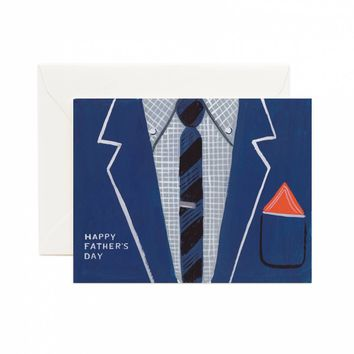 Father's Day Suit Greeting Card by RIFLE PAPER Co.   Made in USA