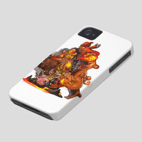 IPhone5 IPhone4 IPhone4S Case - Grow in the dark pokemon and Digimon full-paint case By Drawclub