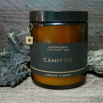 Campfire Candle - Best Seller - Gift for Boyfriend - Gift for Dad - Man Candle - Scented Firewood Candle - Coconut Wax Candle - Vegan Candle