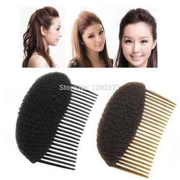 DCCKWJ7 1pc Hair Styler Volume Bouffant Beehive Shaper Roller Bumpits Bump Foam On Clear Comb Xmas Accessories