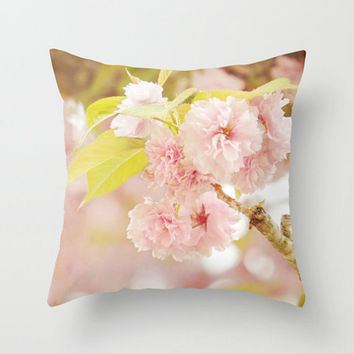 Throw Pillow Covers, Pink Floral Pillow Cover, Decorative Throw Pillow, Shabby Chic Bedding, Cottage Chic Home Decor