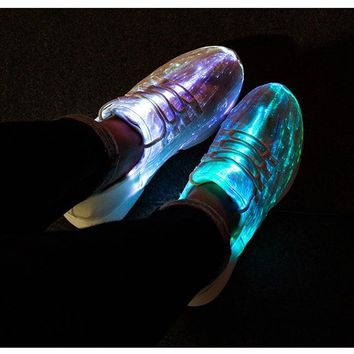 women shoes Luminous Sneakers Glowing Light Up Shoes for men  women  White LED  Flashing Shoes with Light for Adult Ladies Shoes