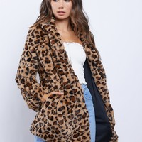 Ultimate Faux Leopard Coat