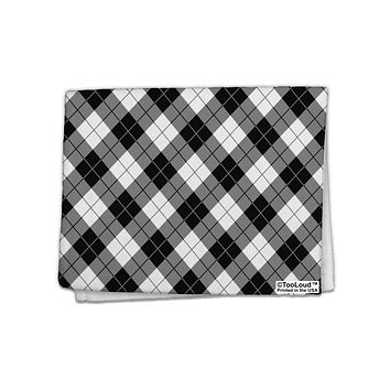 "Black and White Argyle AOP 11""x18"" Dish Fingertip Towel All Over Print by TooLoud"