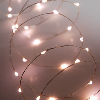 LED Lights 10 Feet Silver Wire 60 Lights Warm White Electric Outdoor $16