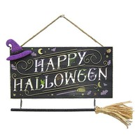 Celebrate Halloween Together Witch Broom Wall Decor