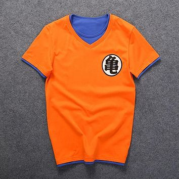 Dragon Ball super saiyan T-Shirt anime DragonBall t shirt men goku costume tees tshirts cartoon clothes