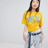 Tommy Jeans Collegiate Logo T-Shirt at asos.com