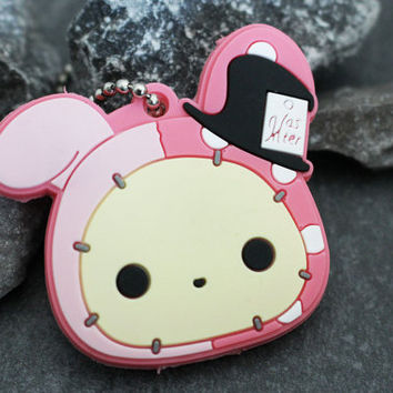 Shappo Keychain, Key Cover, Rubber Key Topper, Rubber Key Chain, Kawaii Keycover, Cute Key Fob, Girls Key Ring, Sentimental Circus, Sanrio