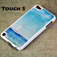 Sailboat on sea iPod Touch 5 Hard Cover Case by ACYC on Etsy