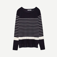 STRIPED SWEATER DETAILS