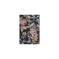 KAS Rugs Coral Charcoal Floral Area Rug