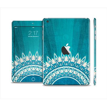 The Blue Spiked Orb Pattern V3 Full Body Skin Set for the Apple iPad Mini 2