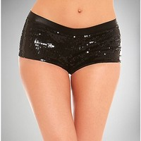 Black Sequin Shorts - Spencer's