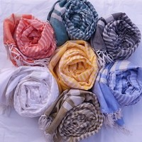 Silk and cotton scarf - Hand-woven Hand-dyed with Ayurvedic dyes