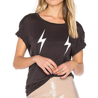 Chaser Double Lightning Tee in Union Black