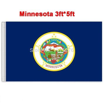 New fashion 90*150 cm Minnesota flag  United State American Banner Office/Activity/parade/Festival/Home Decoration