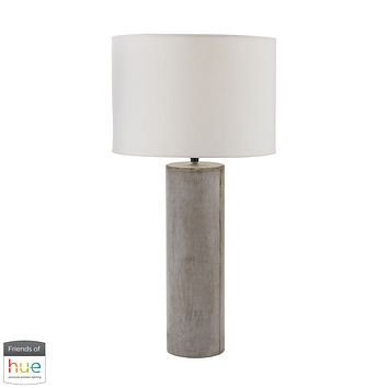Cubix Round Desk Lamp in Natural Concrete - with Philips Hue LED Bulb/Bridge
