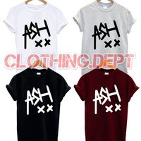 ash xx t shirt band music 5 sos tour punk rock band concert group ashton iriwin all colours seconds of summer punk rock