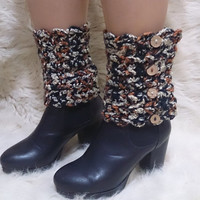 Crochet boot cuffs, boot cuffs, lace boot cuffs, boot toppers, button boot cuffs, winter is coming, fall accessories, women accessories,