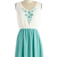 ModCloth Boho Short Length Sleeveless A-line Tucson a Tuesday Dress